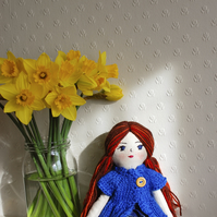 Rag doll, Cloth doll, Birthday gift, Handmade doll, Gift idea