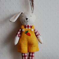 Bunny Handmade Doll, Easter bunny, Plush Bunny, Stuffed Animal, Cloth Doll,Bunny