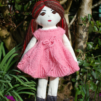 Handmade doll, Rag doll, Cloth doll, Birthday gift, Gift idea, Nursery decor