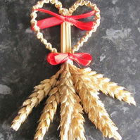 Four braid heart corn dolly