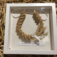 Lucky corn dolly horseshoe in box frame