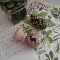 wooden drawer knobs, deer drawer knobs, stag drawer knobs, drawer pulls, deer ,