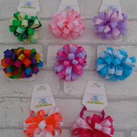 Loopy puff hair bobble hair tie ribbon girls hair bobble pretty hair tie colours