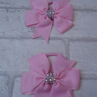Pinwheel hair bobbles clips ribbon girls hair bows pretty clips and bobbles