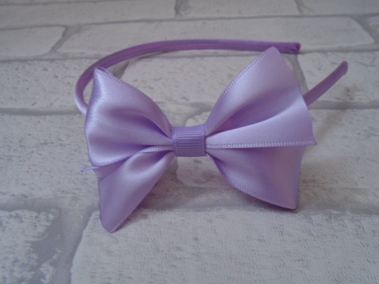Satin bow headband bridesmaid simple bow headband girls pretty alice band