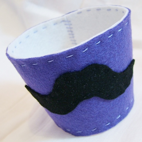 Moustache Takeout Coffee Sleeve