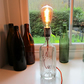 Soda Siphon Bar Lamp, Schweppes Bottle, Orange Flex,