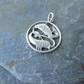 Silver Charm or Pendant, Pisces Fish Charm, Made Germany, Vintage for Upcycling.