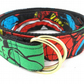 Child's d-ring belt, superhero patterns for young superheroes