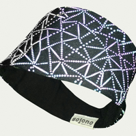 Reflective headband, womens headband, running headband, sports headband