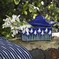 Snowdrop Butter Dish