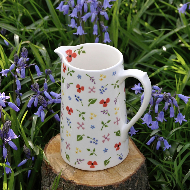 Wild Flowers Farmhouse Jug