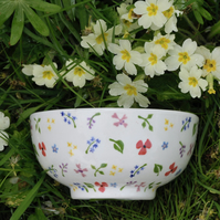Wild Flowers Cereal Bowl