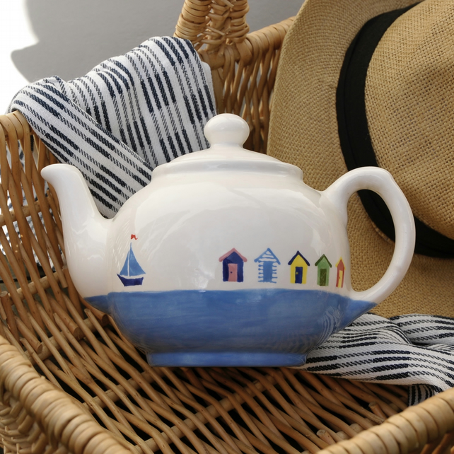 Beach Hut Teapot
