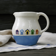 Beach Hut Rustic Pint Jug