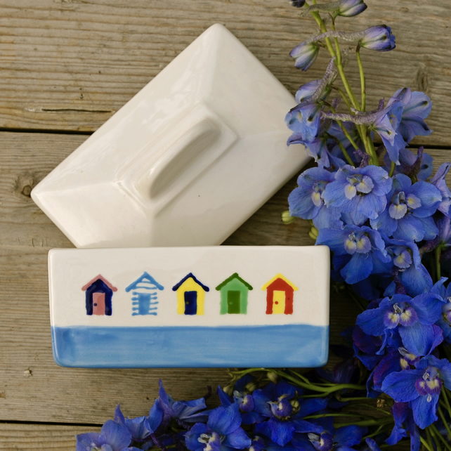 Beach Hut Butter Dish