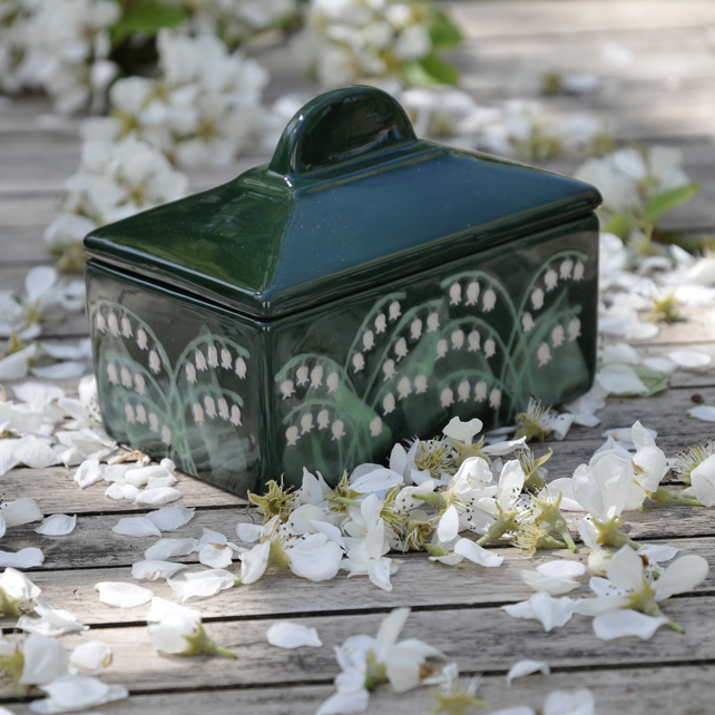 Lily of the Valley Butter Dish