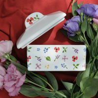 Wild Flowers Butter Dish