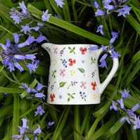 Wild Flowers Milk Jug