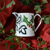 Christmas Holly & Ivy Milk Jug