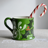 Christmas Holly & Mistletoe Country Mug