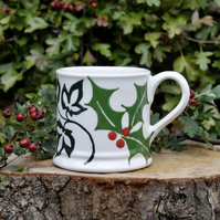 Christmas Holly & Ivy Country Mug