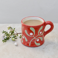 Christmas Red Mistletoe Country Mug