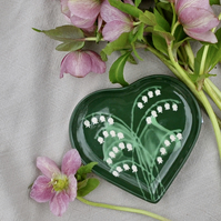 Lily of the Valley Heart Dish