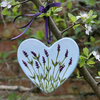 Lavender Heart Hanging Decoration