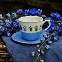 Beach Huts Cup and Saucer