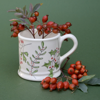 Winter Berries Country Mug