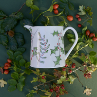 Winter Berries Milk Jug
