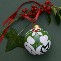 Holly and Ivy Bauble