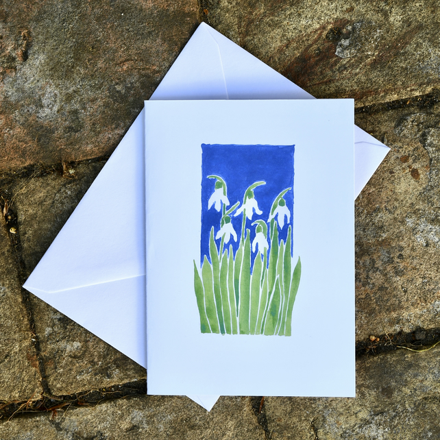 Snowdrop Greetings Card