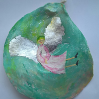Little angel  painted shell