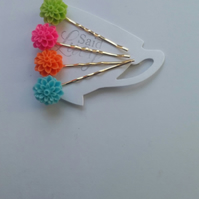 Summer bright flower bobby pins collection
