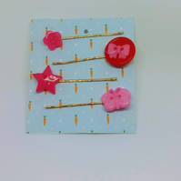 Fun Retro Bobby Pins