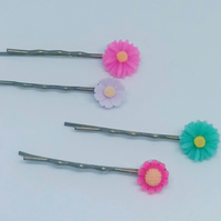 Pretty hair clips floral bobby pins girls gift