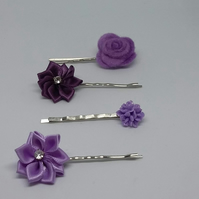 Purple hair clip collection