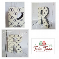 Personalised wooden letters (no wording)