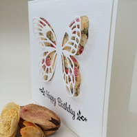 Beautiful big butterfly birthday card