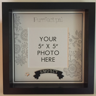 Personalized photo frame, box frame, pet cat, cat's name