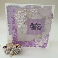 Shabby chic and lacy greeting card