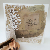 Shabby chic vintage greeting card