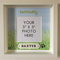 Personalized photo frame, box frame, pet dog, dog's name