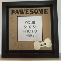 Personalized photo frame for a dog