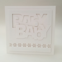 New baby greeting card, unisex