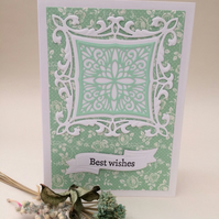 Lovely greeting card for female,intricut pretty card, handmade birthday card.