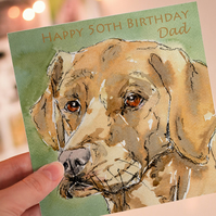Personalised Labrador Dog Greeting Card