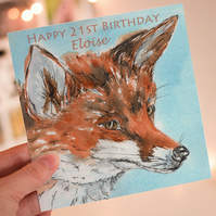 Fox Personalised Greeting Card